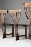 6 Arts & Crafts Carved Oak Chairs (2 of 12)