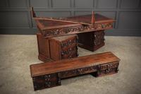 Carved Oak Pedestal Desk (19 of 19)