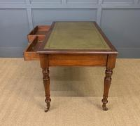 Victorian Walnut 2 Drawer Writing Table (4 of 14)