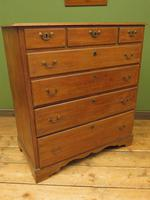 Antique Country Oak Chest of Drawers, 18th Century Chest in 2 Parts (16 of 17)