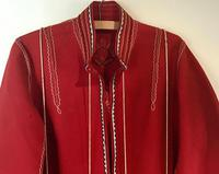 Very Unusual Vintage Felt Coat  Decorated with Embroidery Possibly Turkish or Greek (2 of 7)