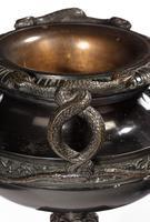Handsome Pair of 19th Century Bronze Neoclassic Urns (3 of 6)