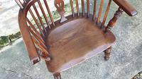 Wonderful Example of Handsome Yew High Back Windsor Chair (7 of 8)