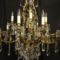French Gilded Bronze 16 Light Antique Chandelier (4 of 10)