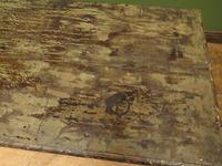 Large Antique Old Painted Green Distressed Pine Trunk Chest, Rustic Blanket Box (4 of 18)