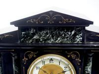 Fine Slate & Marble Mantel Clock 8 Day Striking Mantle Clock (8 of 9)