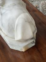 Alabaster Bust of Young Girl Wearing a Bonnet (17 of 25)