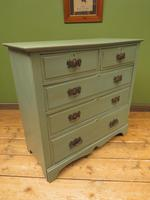 Antique Gustavian Style Blue Painted Chest of Drawers (16 of 18)