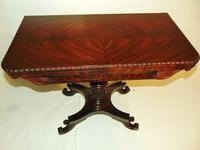 American Regency mahogany card table (6 of 9)