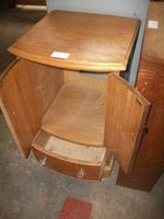 Small Bow Front Two Door Cupboard on Drawer (2 of 2)