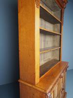 Antique Victorian Golden Oak Open Bookcase (18 of 20)