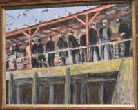 Newlyn Fish Market Oil Painting by Marjorie Mort (1906-1988) (3 of 5)