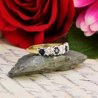 The Vintage 1979 Sapphire & Diamond Half Hoop Ring (3 of 5)