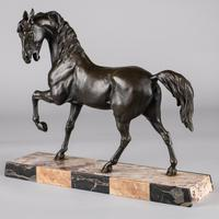 French Sculpture of Prancing Horse - Signed C.H. Valton (5 of 8)