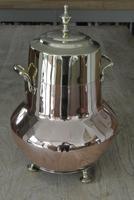 19th Century Dutch Copper & Brass Ash Bucket 'Doofpot' Peat Castellated Seam