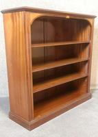 Edwardian Inlaid Mahogany Open Bookcase (5 of 10)