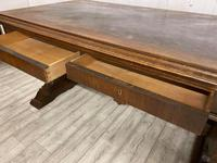 Large Victorian Green Man Library Desk (6 of 6)