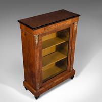 Antique Pier Cabinet, English, Walnut, Inlay, Display Cupboard, Victorian, 1870 (7 of 12)