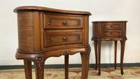 Vintage French Cherrywood Cabinets Kidney Shaped Bedside Tables (8 of 10)