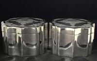 Pair of Mid 19th Century Silver Plated Tea Caddies (9 of 10)