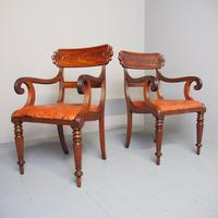Pair of George IV Mahogany Armchairs (3 of 9)