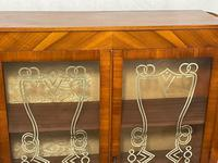 Art Deco Walnut Curved Bookcase Display Storage Cabinet (7 of 29)