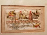 Early 20th century embroidered silk greetings cards (3 of 16)