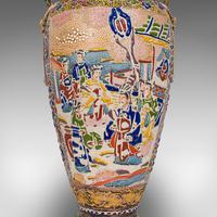 Pair Of Tall Antique Satsuma Vases, Japanese, Ceramic, Decorative, Moriage, 1900 (2 of 12)