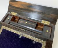 Victorian Coromandel Brass Bound Writing Slope (11 of 16)