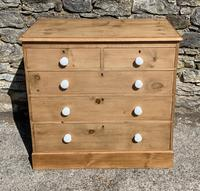 Antique Victorian Stripped Pine Chest of Drawers (2 of 15)