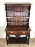 Antique Early 20th Century Oak Pot Board Dresser (10 of 14)
