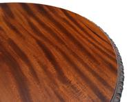 Carved Mahogany Circular Table Occasional Side Centre Window c.1910 (5 of 6)