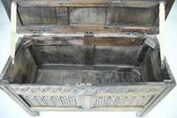 Charles I Oak Panel Chest (6 of 10)