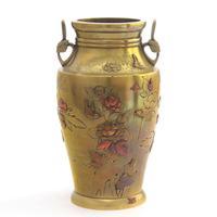 Japanese Meiji Period Large Bronze & Mixed Metal Vase c.1885 (3 of 11)