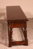 Small Louis XIII Walnut Bench 19th Century (6 of 7)
