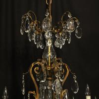 French Gilded Bronze 17 Light Antique Chandelier (9 of 10)