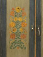 Antique Swedish Style Painted Folk Art Wardrobe Armoire (2 of 22)