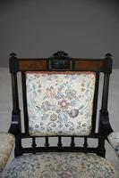 Ebonised Victorian Open Armchair (6 of 8)