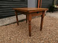 Lovely 19th century pine small farmhouse style kitchen dining table (2 of 12)