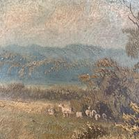 Antique Victorian landscape oil painting entitled View nr Epping signed B Fox (6 of 11)