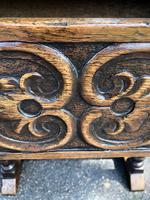 Antique Carved Oak Hall Side Table (3 of 11)