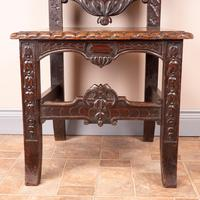 Carved Oak High Backed Side Chair (7 of 9)