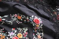 Early 19th Century Chinese Embroidered Silk Piano Shawl (2 of 15)