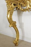 19th Century Gilt Console Table with Marble Top (10 of 17)