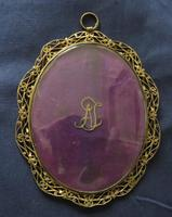 Regency Miniature Portrait Gold Initials to the back (3 of 4)
