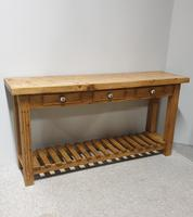 Very Nice Pine Console Side Table