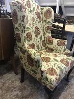 Wing Armchair Floral Material (4 of 7)