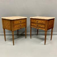 Set of 4 French Marble Top Side Tables (3 of 11)