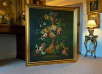 Dutch 18thc Manner RARE Huge Pair Vintage Fruit Floral Still Life Oil Paintings (22 of 23)