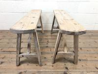 Pair of Antique Rustic Pine Benches (3 of 6)